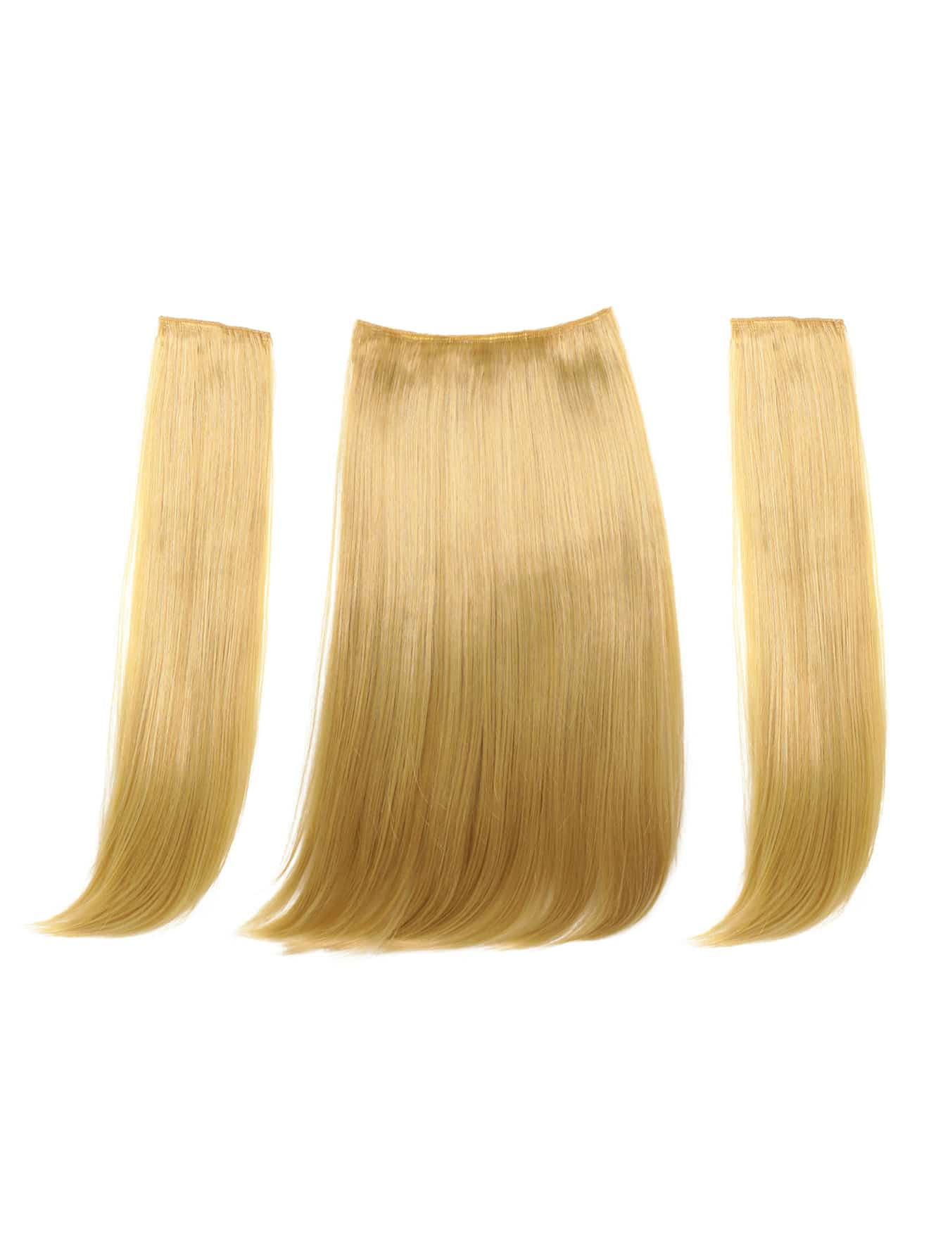 Straight Hair Weft With Clip 3pcs