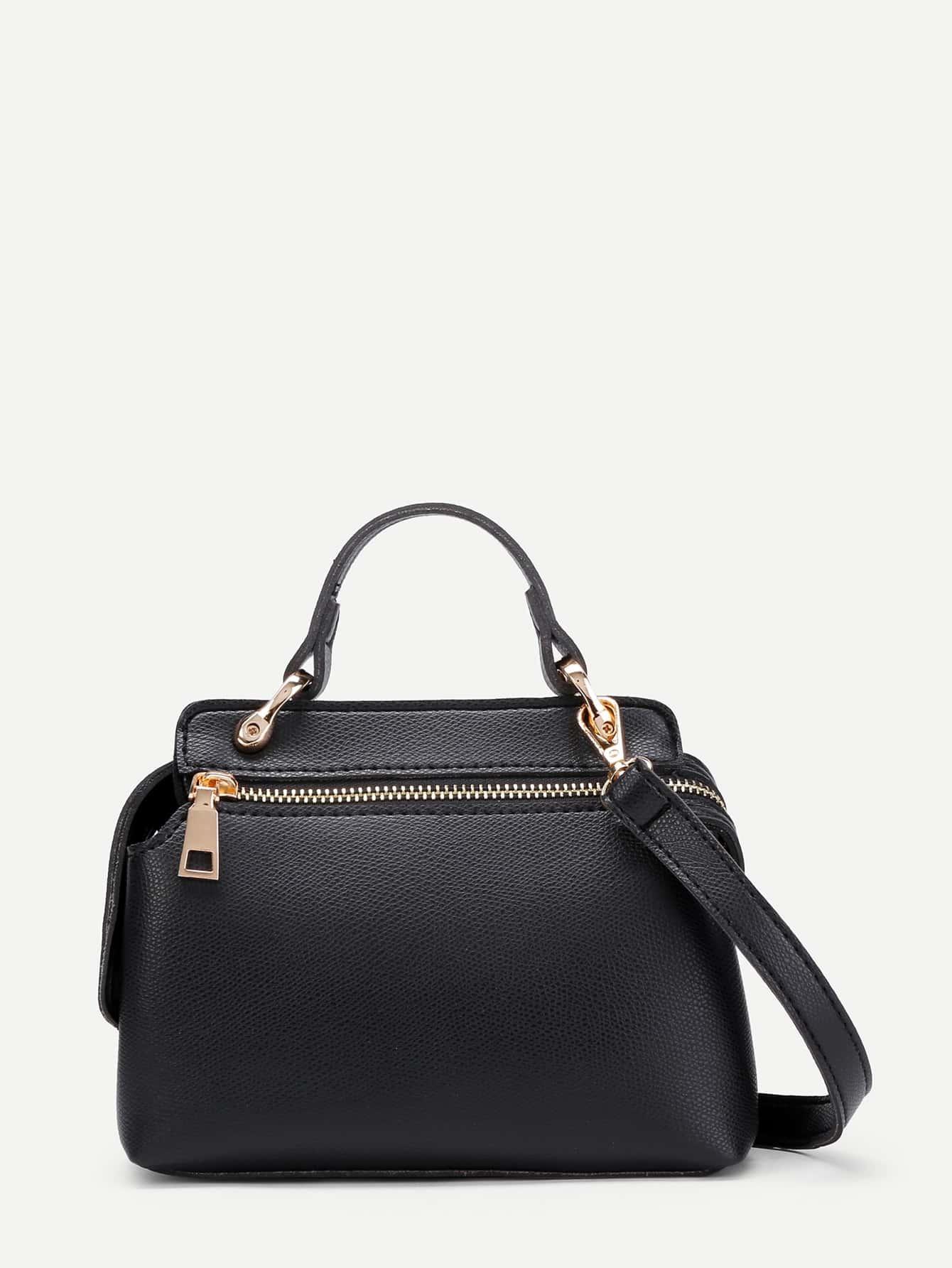 Фото Plain PU Shoulder Bag With Adjustable Strap. Купить с доставкой