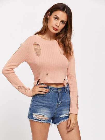 Crop Destroyed Jumper