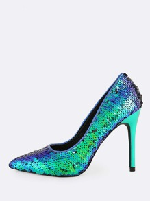 Pointy Toe Sequin Stiletto Heel MERMAID