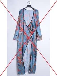 Surplice Front Tie Waist Longline Kimono