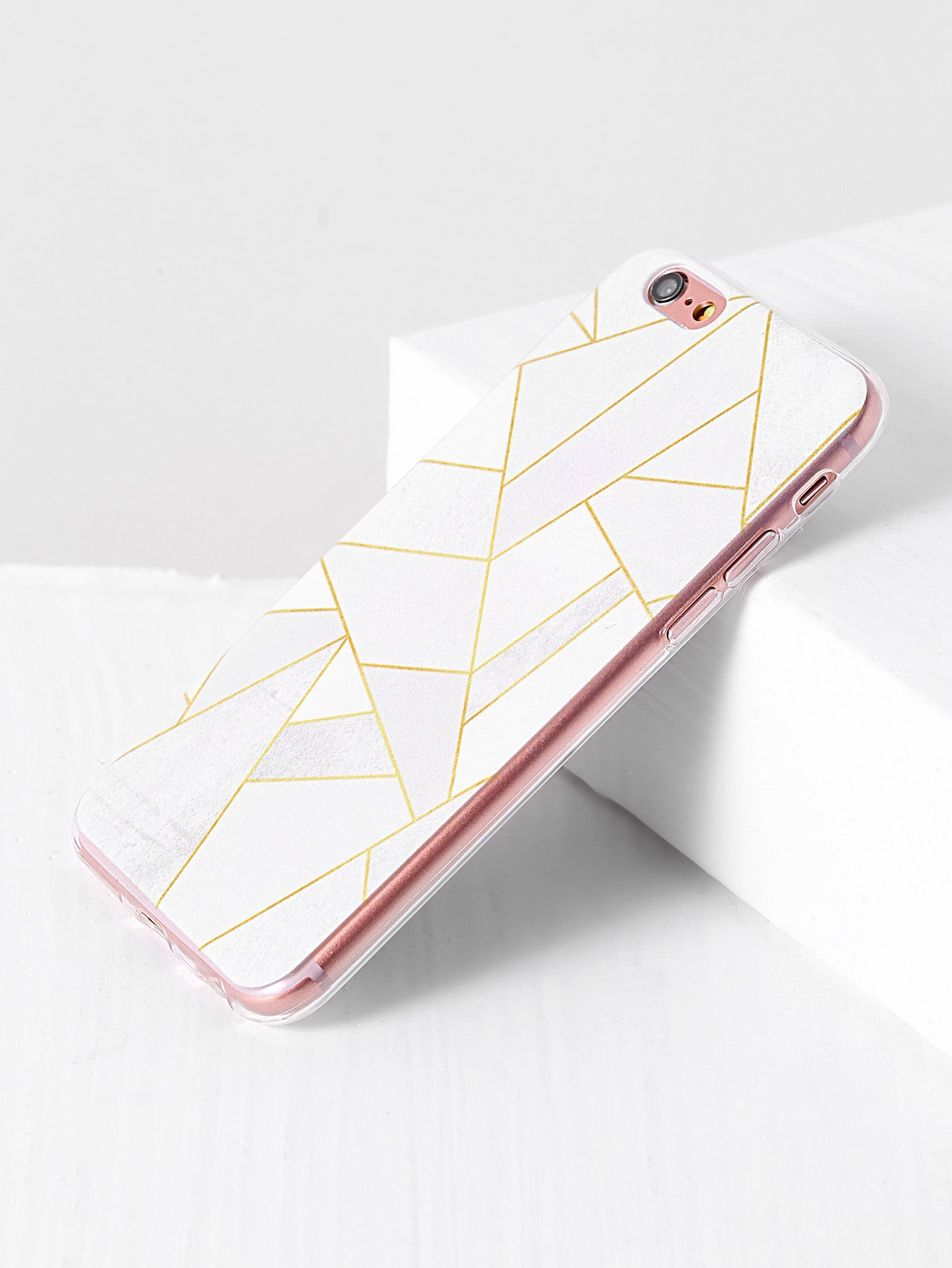 Фото White Geometric Pattern iPhone Case. Купить с доставкой