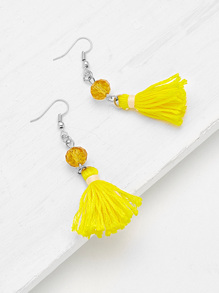 Tassel Drop Earrings With Crystal