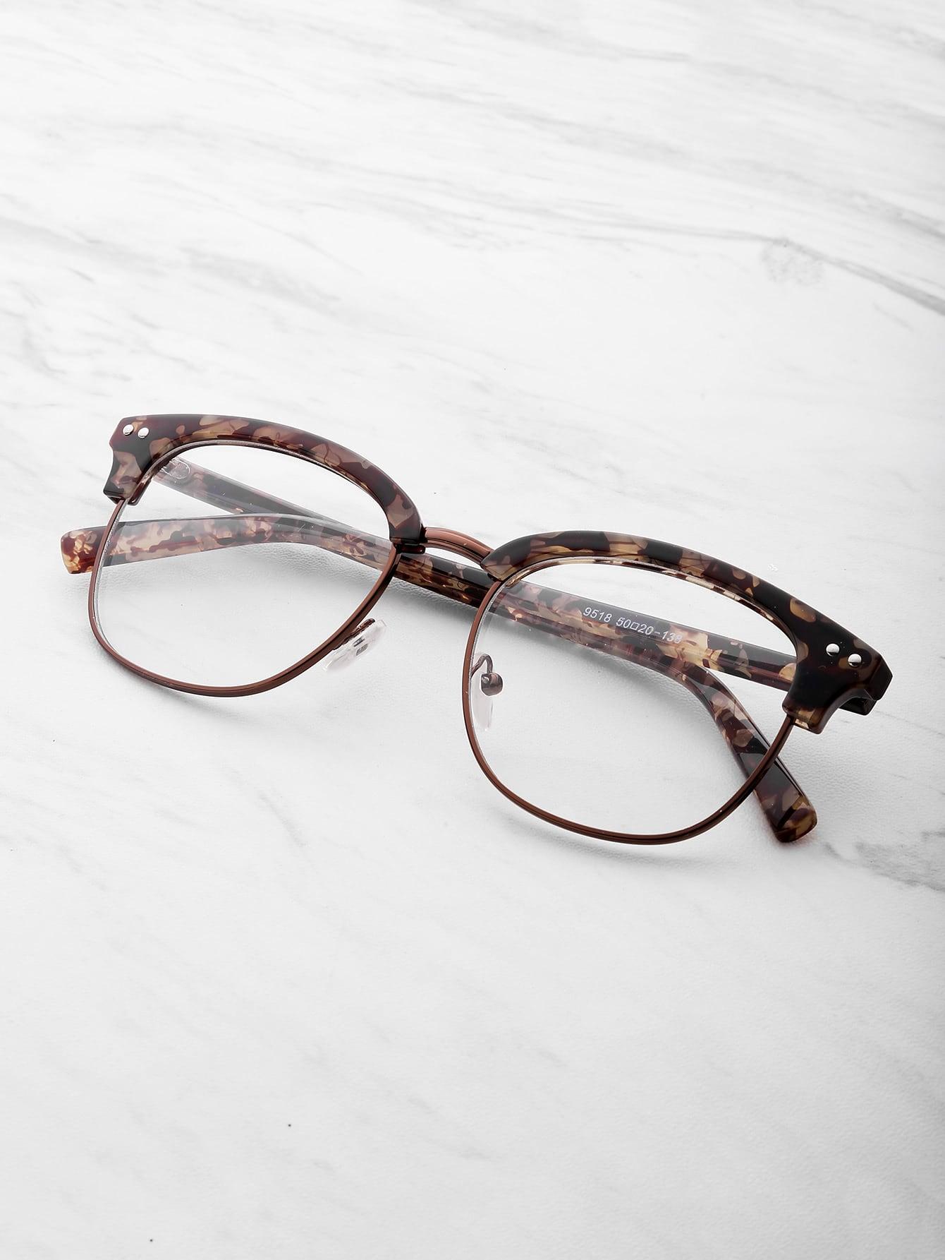 Half Frame Clear Lens Glasses