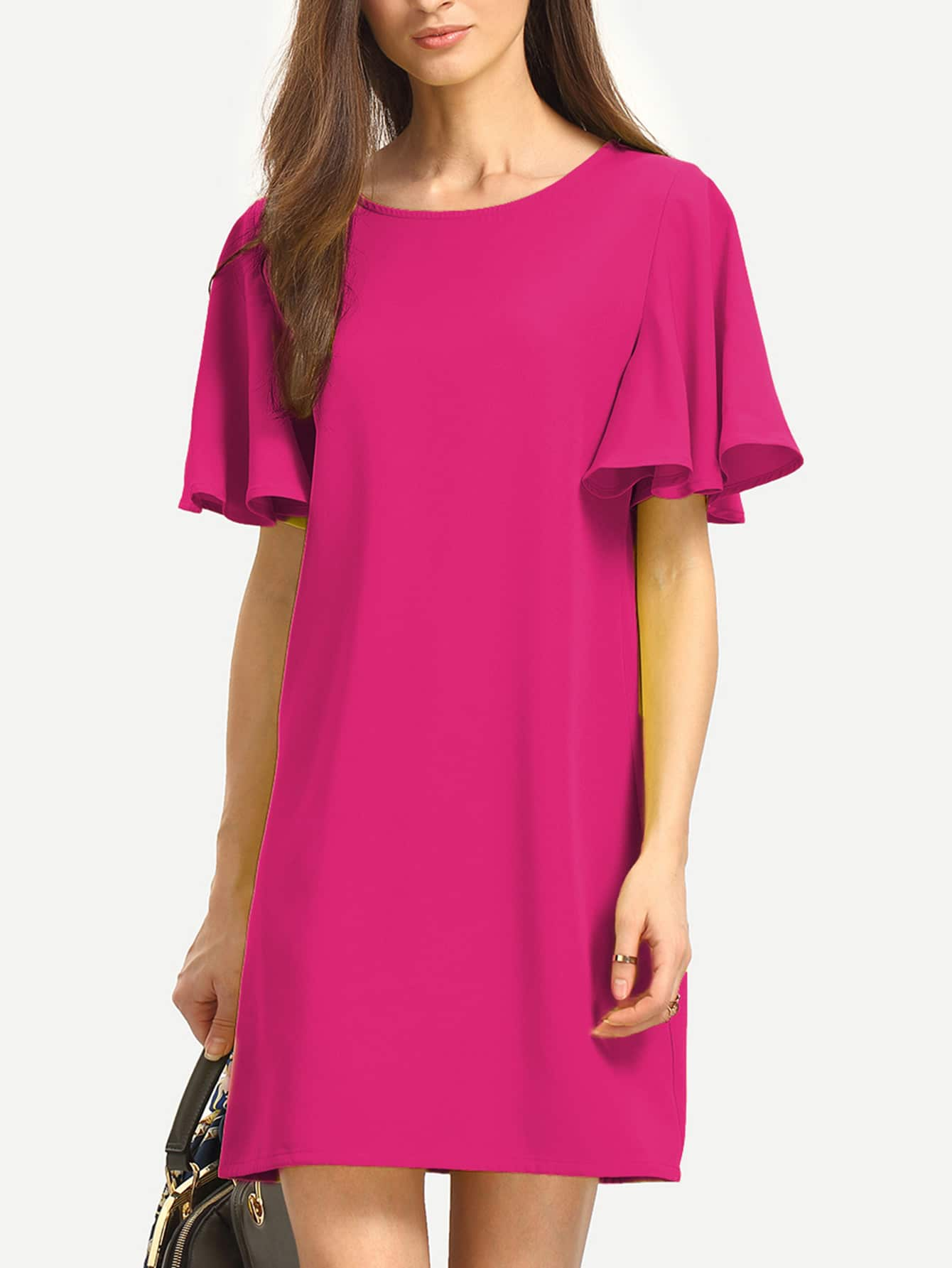 Flutter Sleeve Tunic Dress