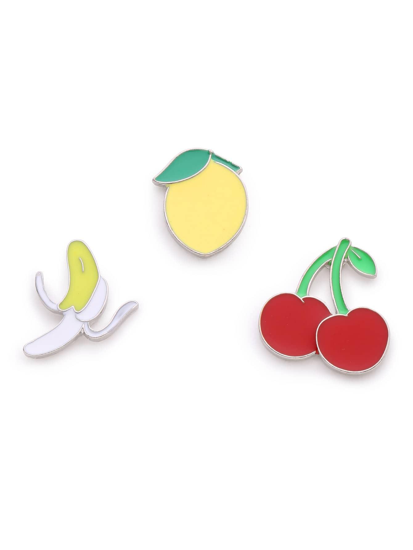 Фото Fruit Design Brooch Set. Купить с доставкой