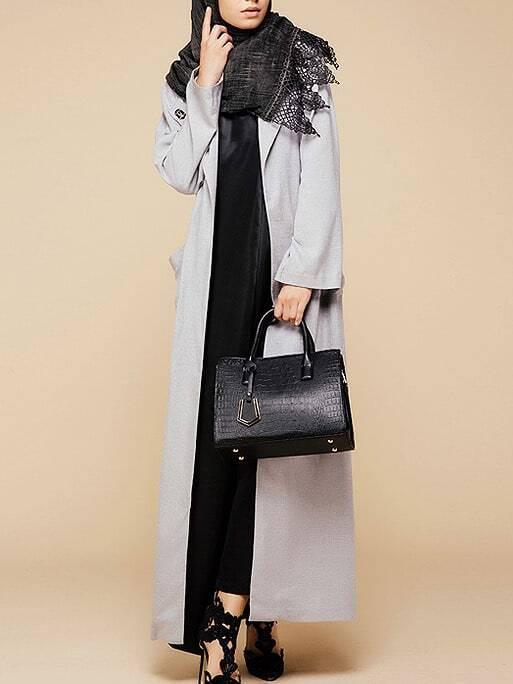 Pocket Full Length Abaya With Buckle