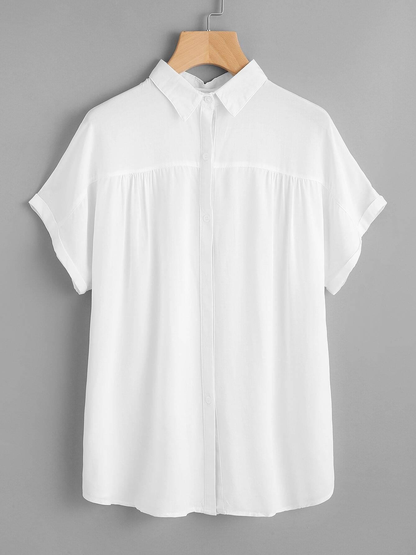 Фото Dolman Sleeve Cuffed Shirt. Купить с доставкой