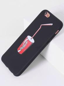 Coque de iphone noir imprimé soda
