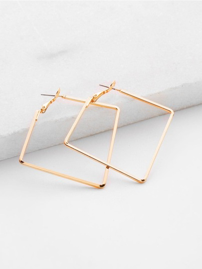 Minimalist Metal Geometric Earrings