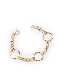 Minimalist Ring Design Chain Bracelet