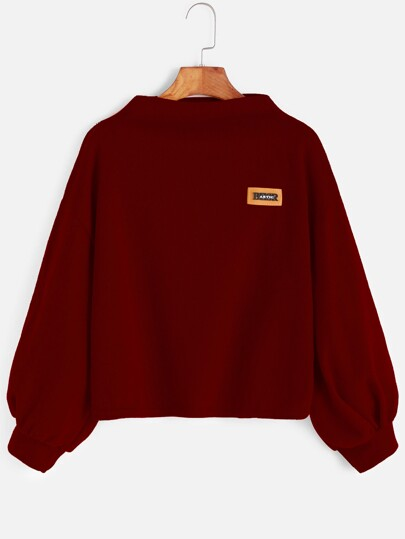 Bishop Sleeve Patch Sweatshirt