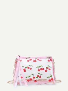 Cherry Print Chain Bag