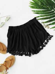 Tassel Hem Shorts