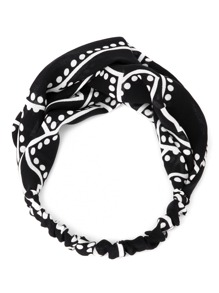 Polka Dot Print Twist Headband