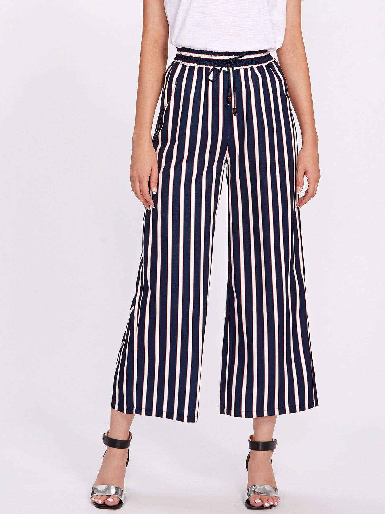 Фото Vertical Striped Wide Leg Pants. Купить с доставкой