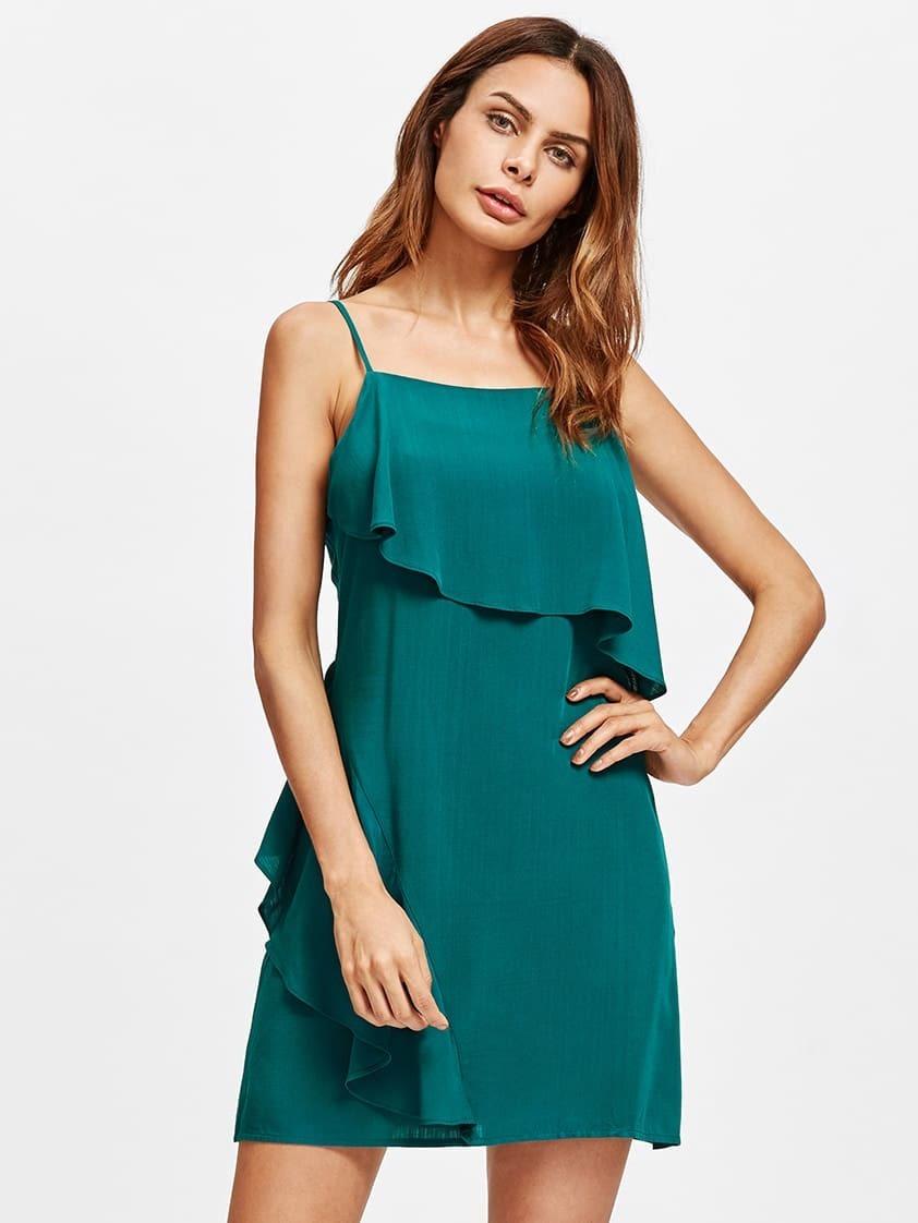 Фото Flounce Trim Cami Dress. Купить с доставкой