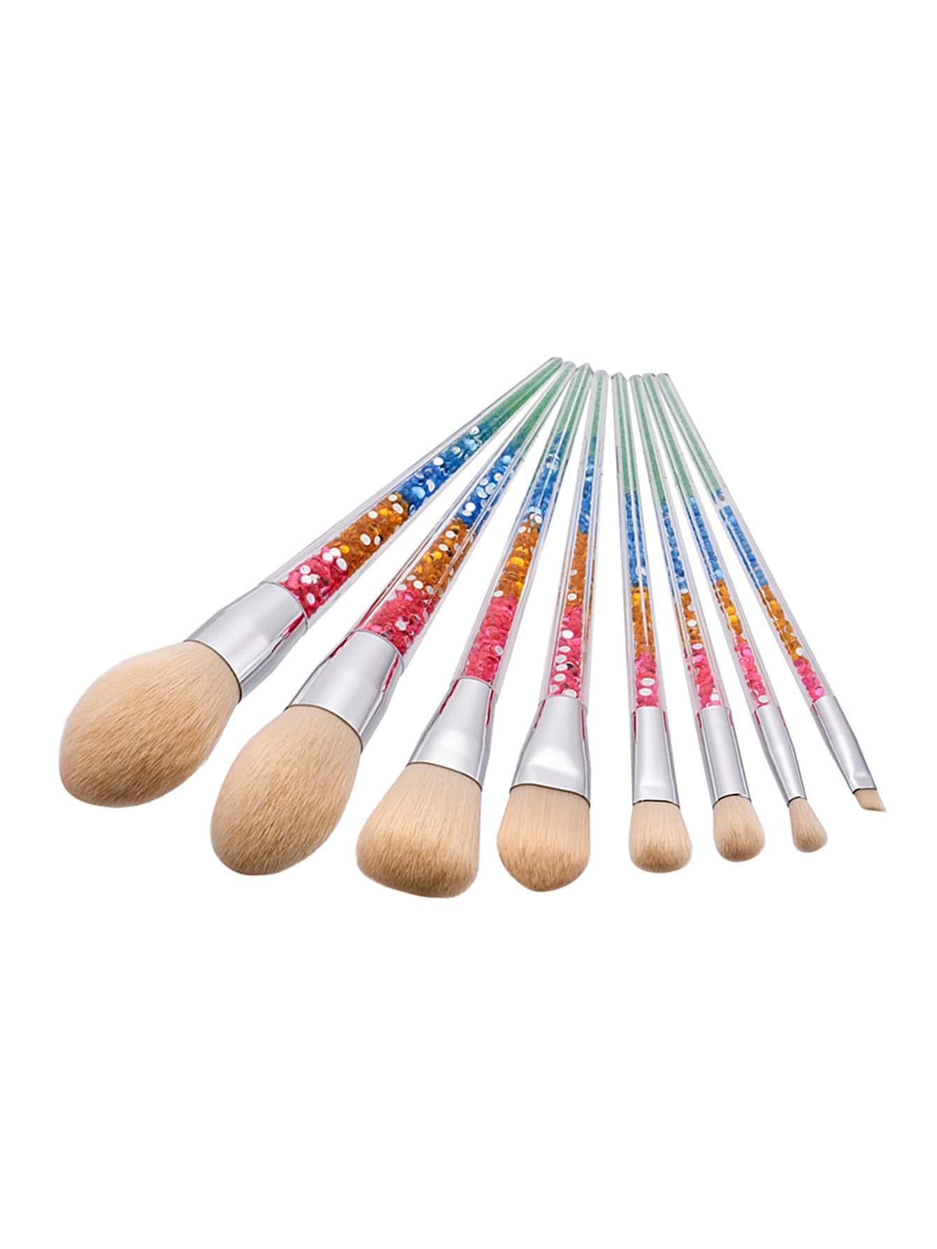 Фото Color Block Handle Makeup Brush 8pcs. Купить с доставкой