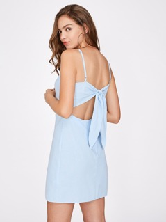 Knotted Open Back Cami Dress