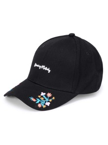 Embroidery Detail Baseball Cap