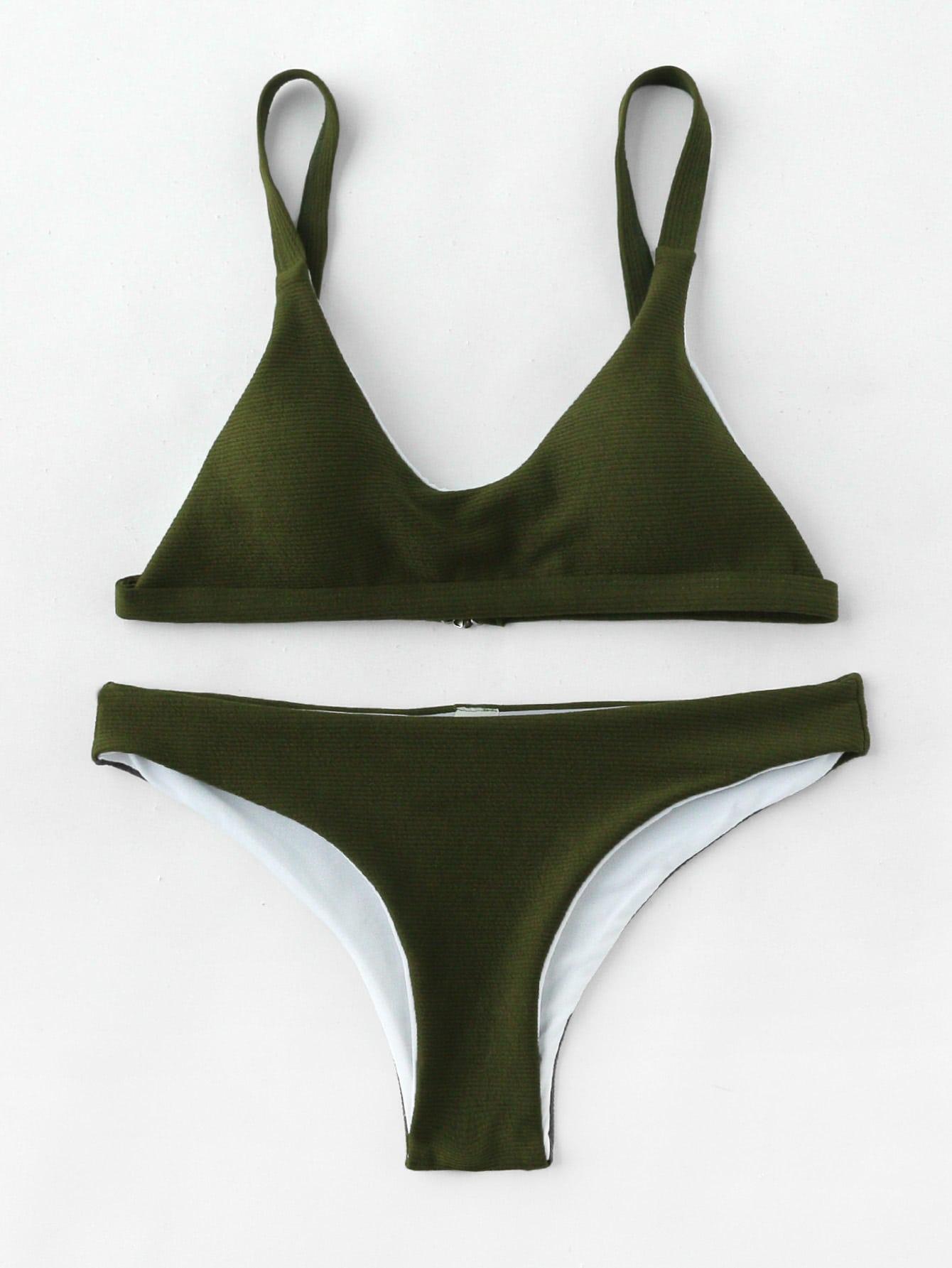 Фото Textured High Leg Bikini Set. Купить с доставкой
