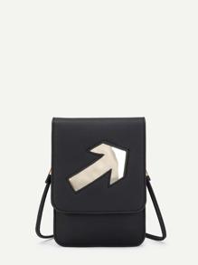 Arrow Pattern PU Pouch Bag