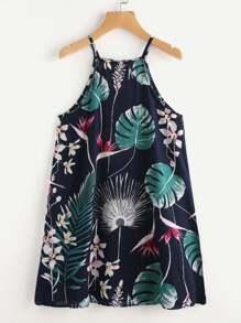 Tropical Print Cami Dress
