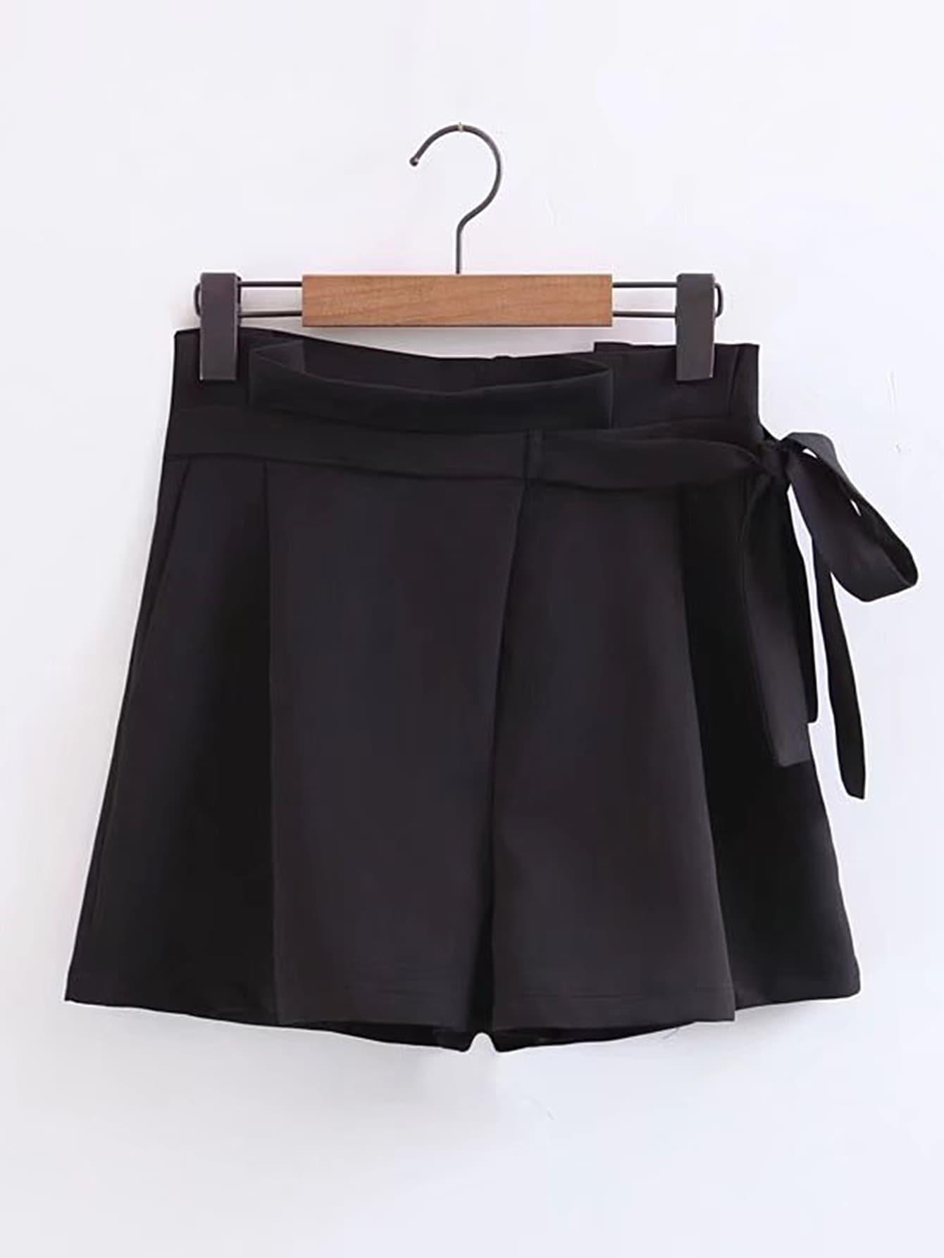 Фото Tie Waist Loose Shorts. Купить с доставкой