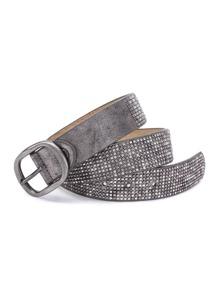 Studded Overlay Buckle Belt