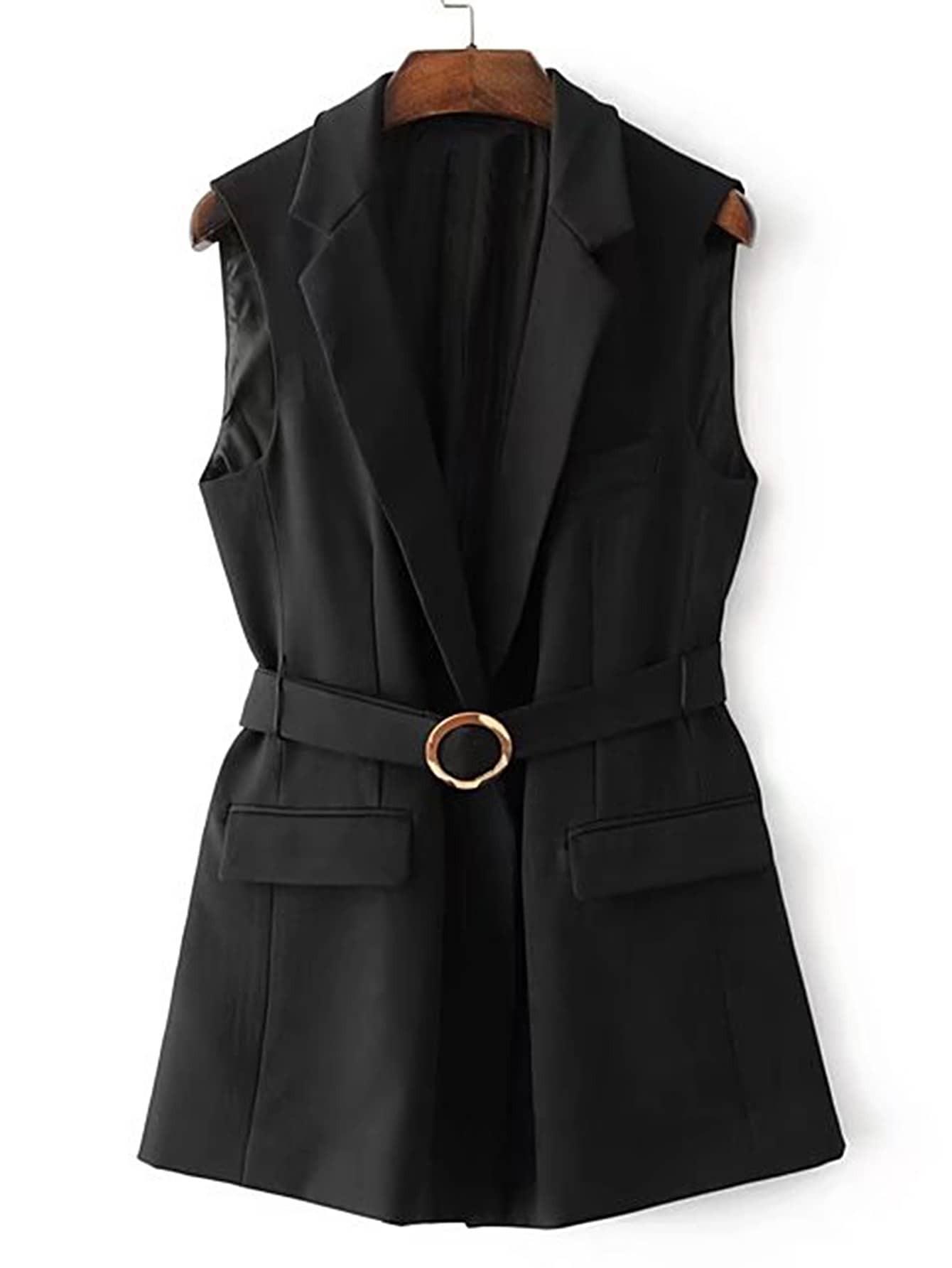 Фото Flap Pocket Self Tie Vest With Ring Detail. Купить с доставкой