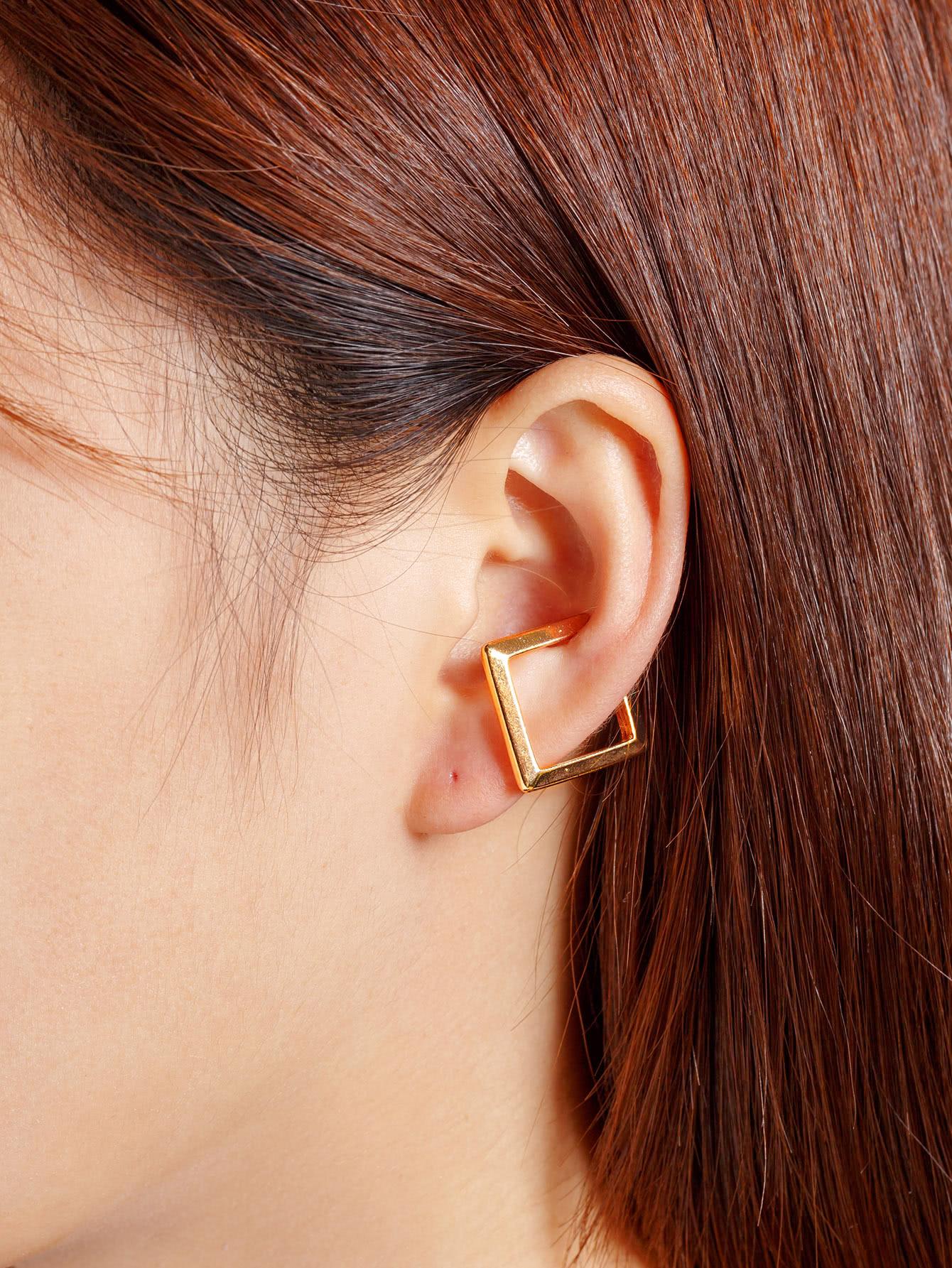 Фото Metal Geometric Ear Cuff 1pc. Купить с доставкой