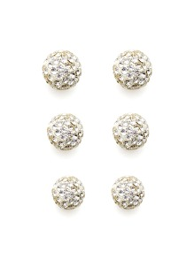Rhinestone Ball Design Stud Earring Set