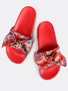 Oriental Bow Slides RED