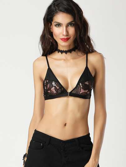 Front Hook Triangle Bralette