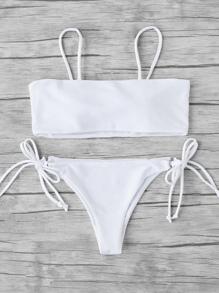 Side Tie Bandeau Bikini Set