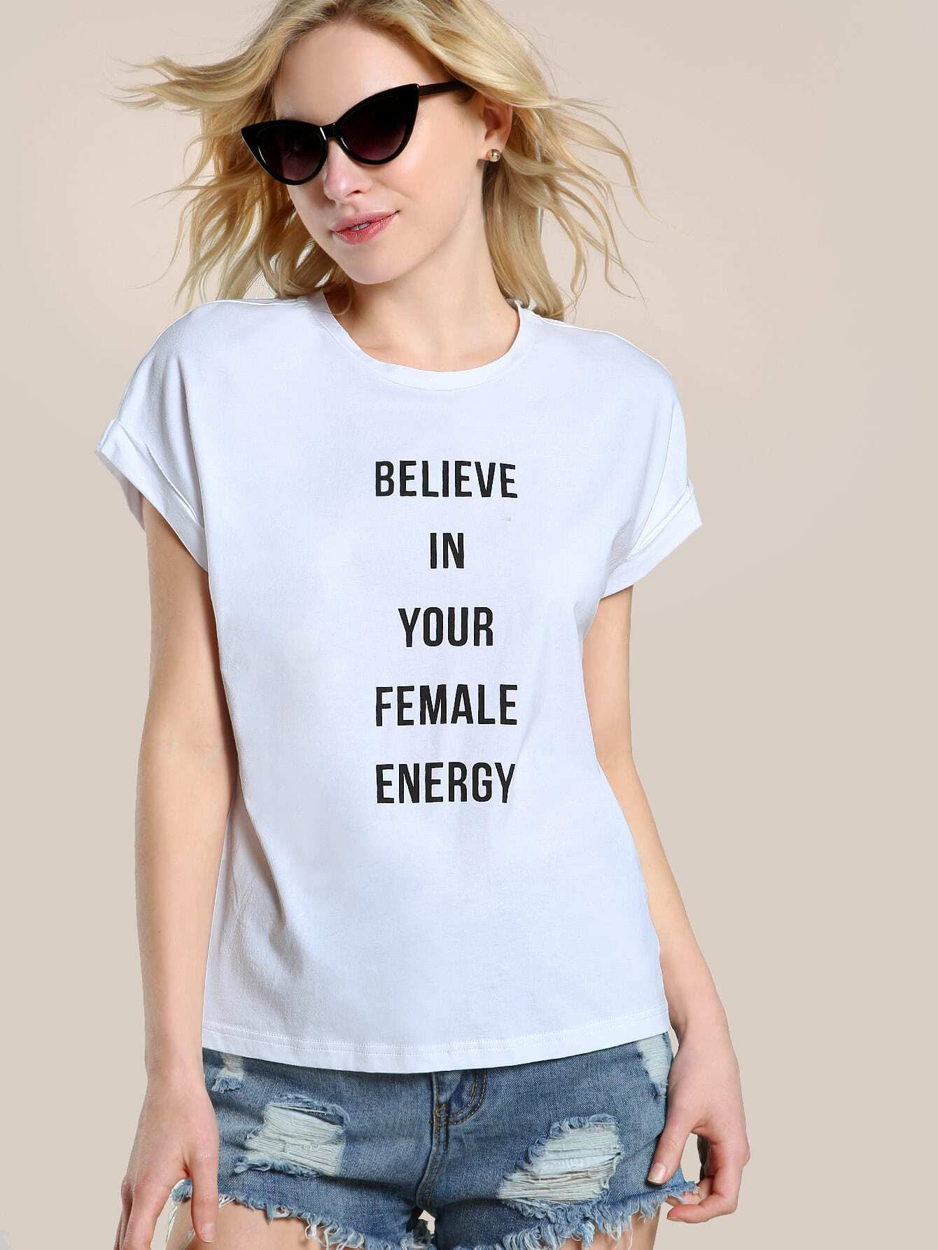 Фото Believe In Your Female Energy T-shirt. Купить с доставкой