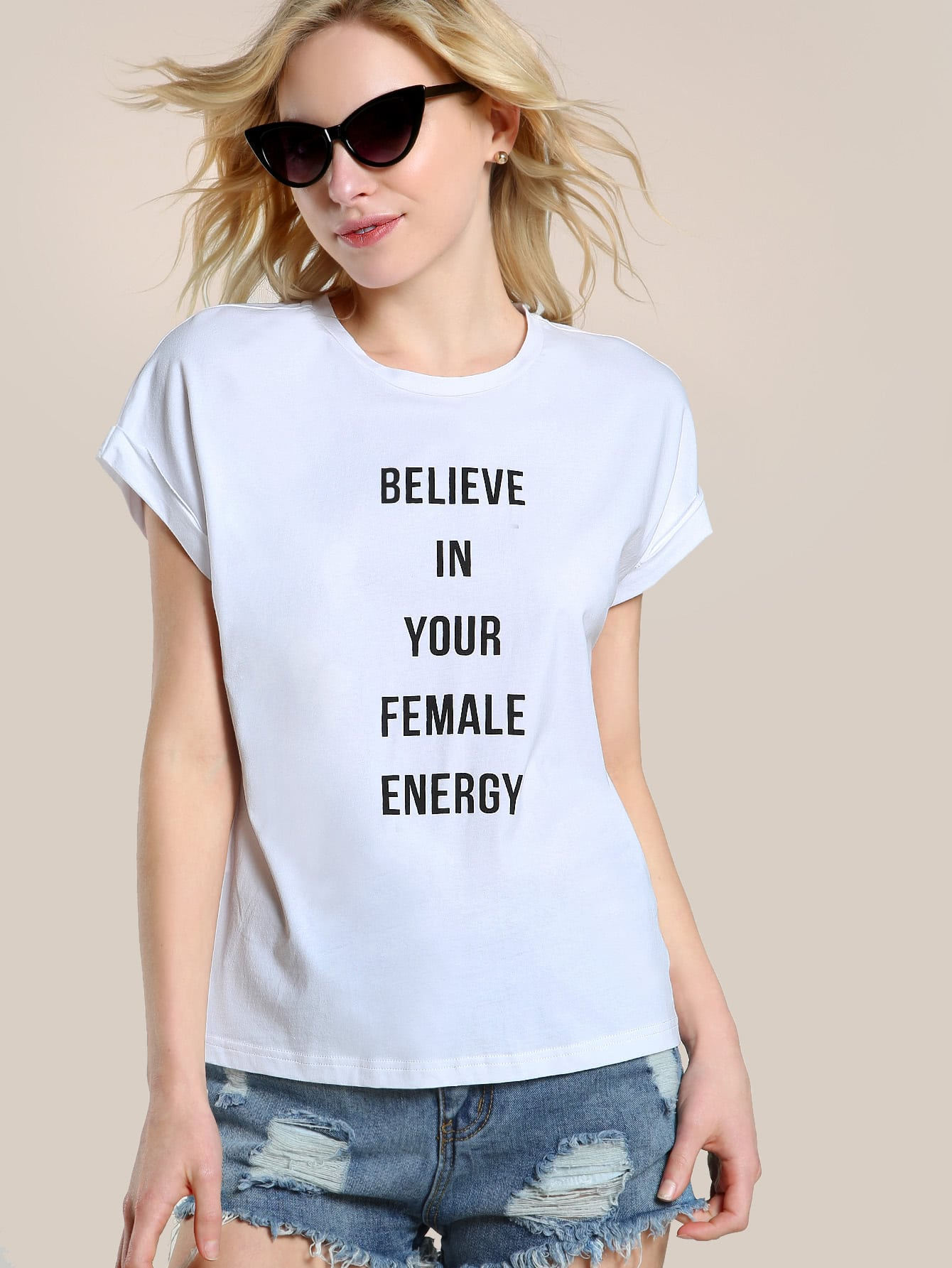 Believe In Your Female Energy T-shirt teemmc170627704