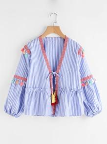 Kimono a strisce verticale