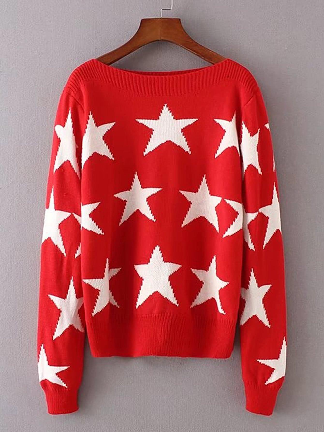 Фото Star Print Sweater. Купить с доставкой