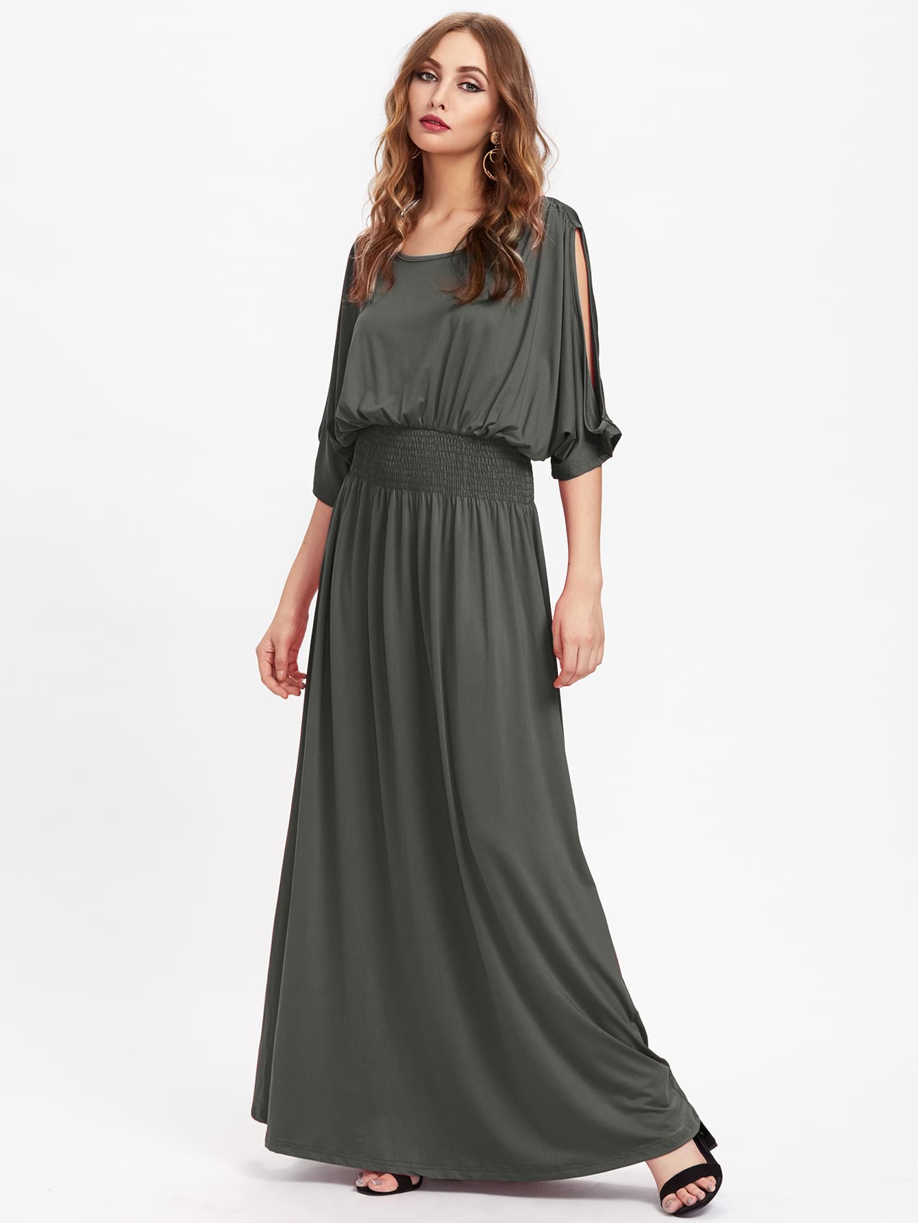 Фото Split Sleeve Full Length Kaftan Dress. Купить с доставкой