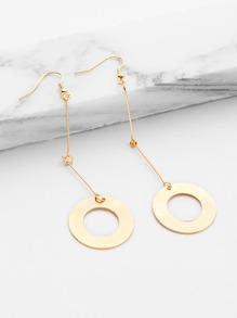 Minimalist Ring Design Drop Earrings