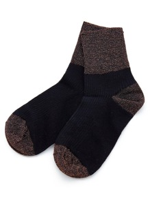 Color Block Glitter Ankle Socks