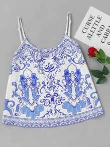 Porcelain Print Cami Top