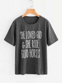 Camiseta con slogan