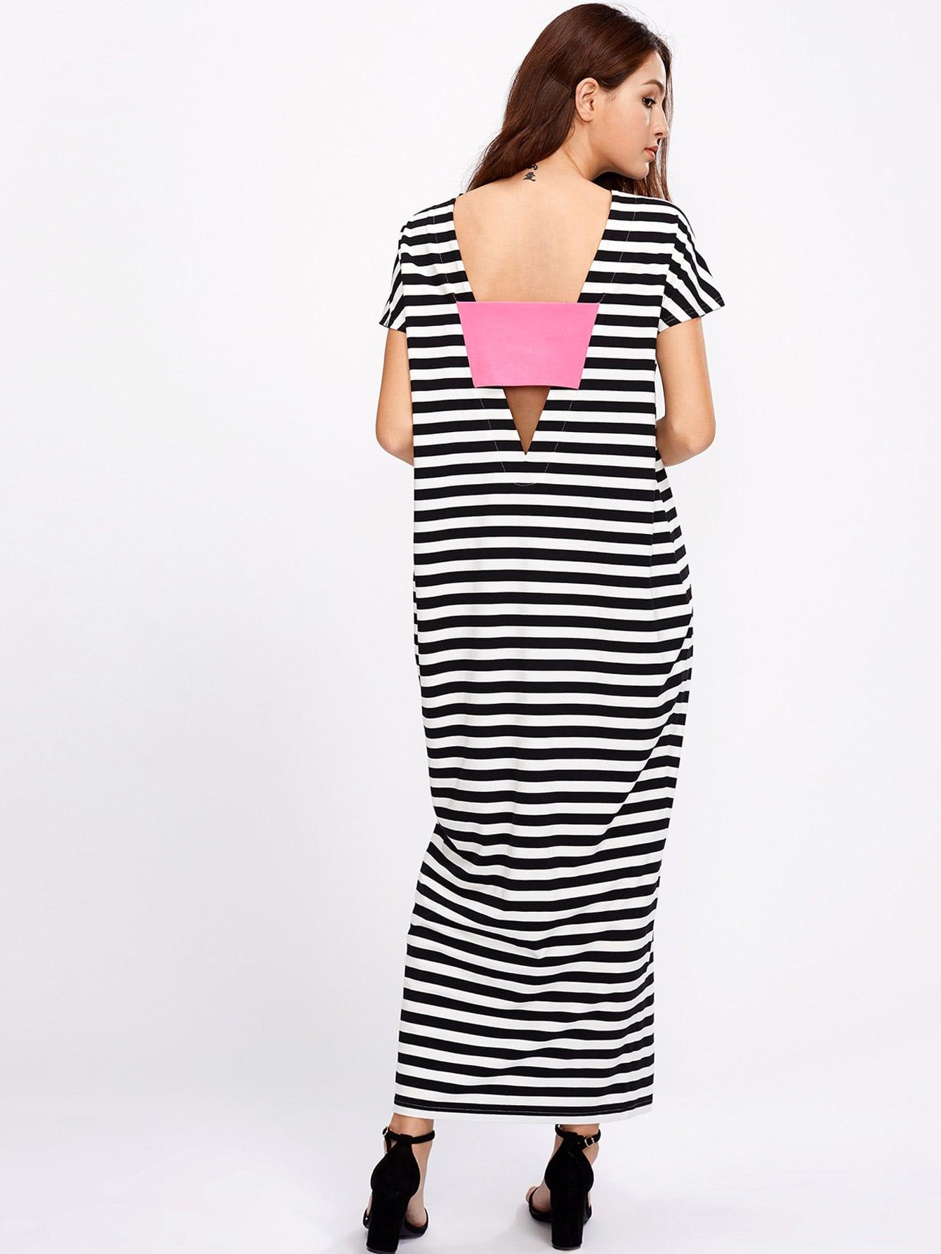 Фото Patch Plunge V Back Cocoon Tee Dress. Купить с доставкой