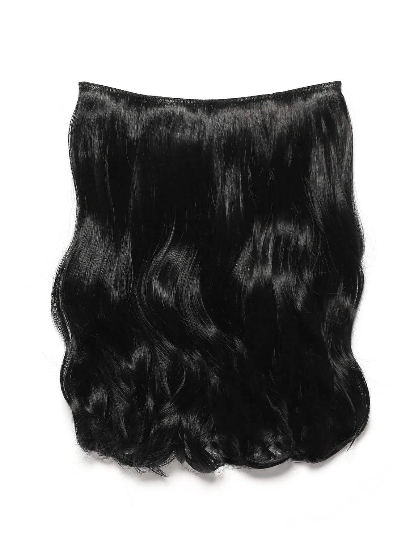 Фото Jet Black Clip In Soft Wave Hair Extension. Купить с доставкой