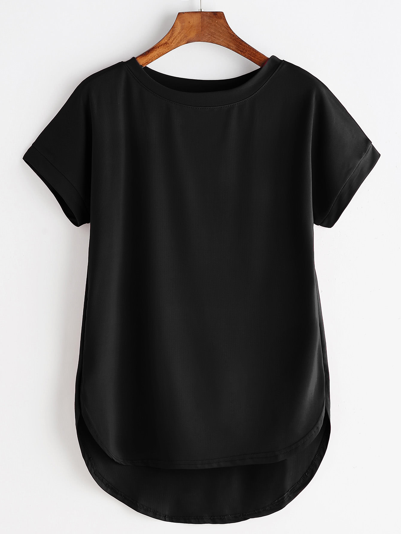 High Low Curved Hem Tshirt цена