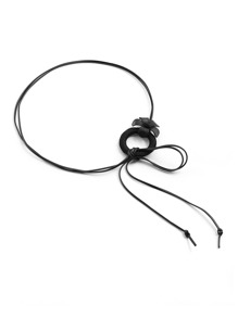 Flower Embellished PU Belt