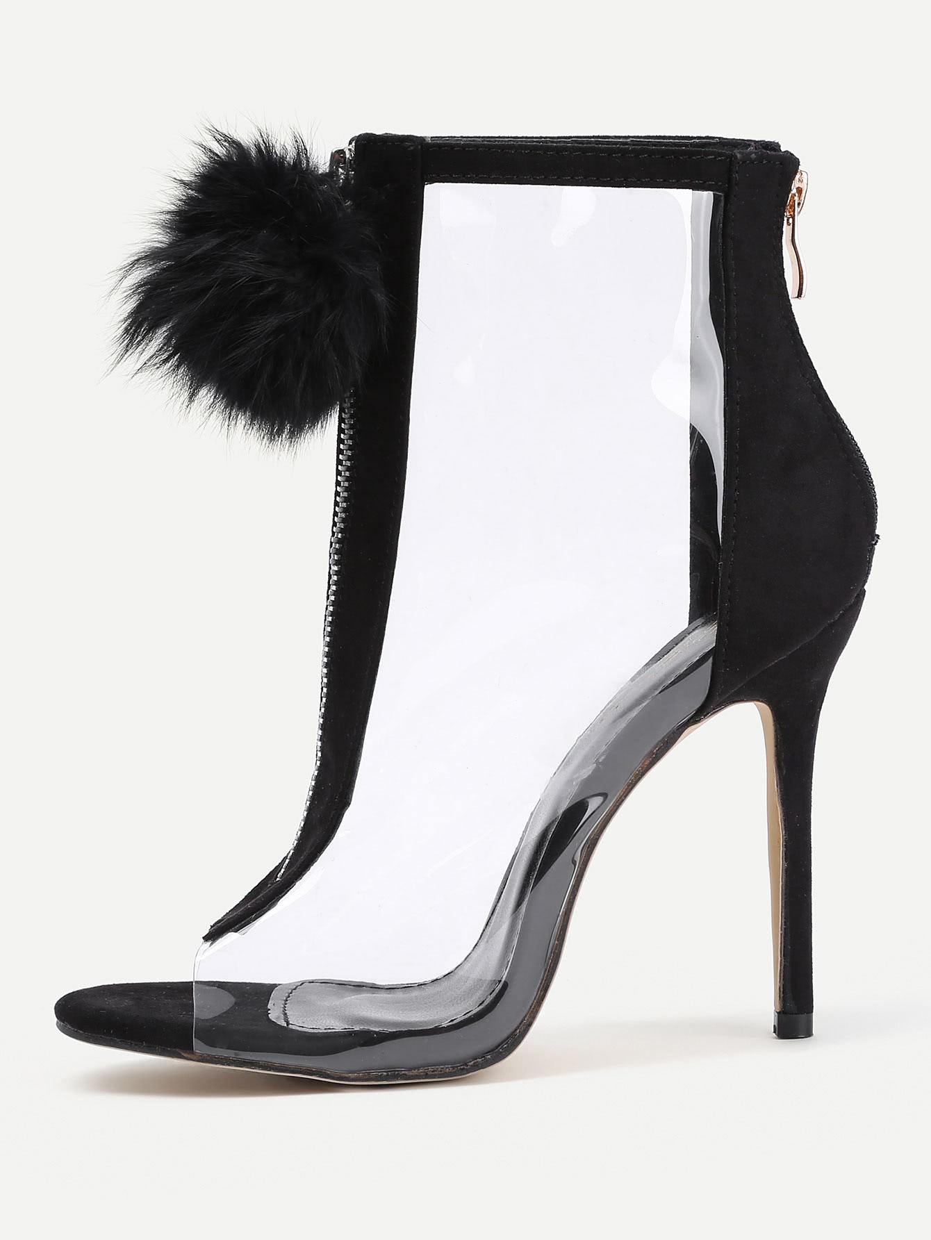 Купить Модные босоножки на каблуках с помпонами, null, SheIn