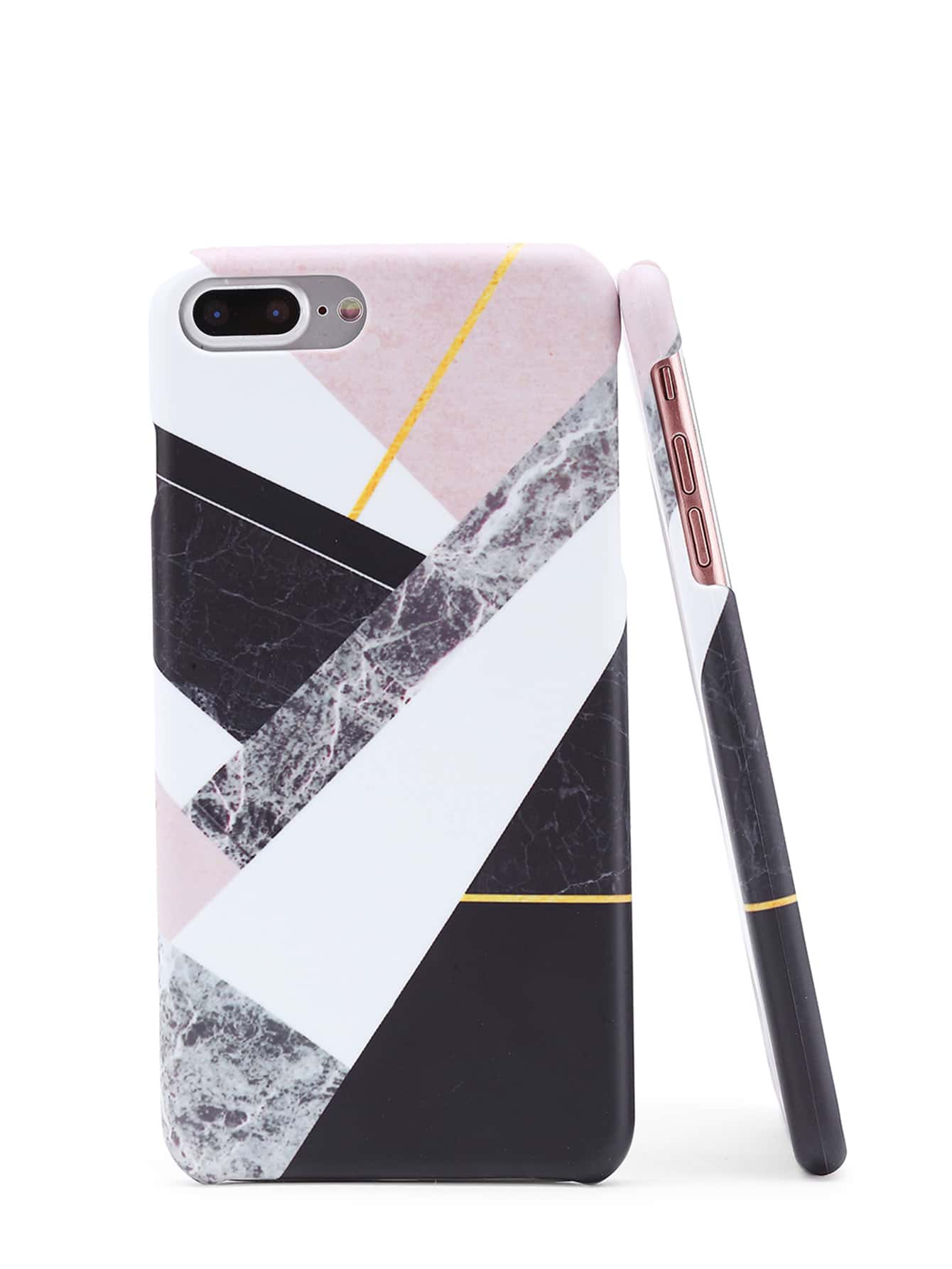 Фото Color Block Marble Print iPhone Case. Купить с доставкой